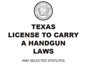 Texas LTC Handgun Laws